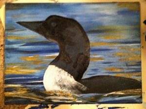 Water finished, loon blocked in